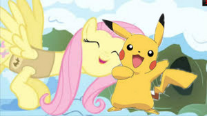 Fluttershy and pikachu