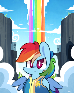 upinde wa mvua Dash as a Wonderbolt