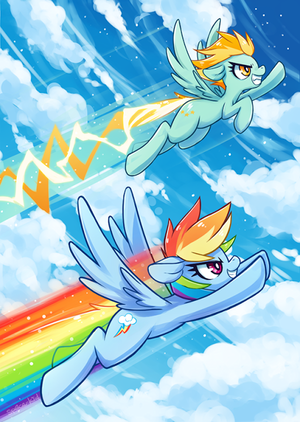Spitfire and Rainbow Dash