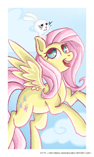 Fluttershy and 天使