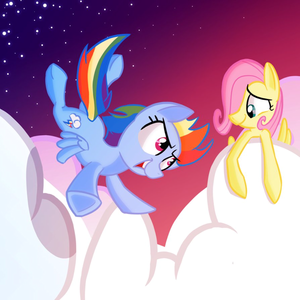 Fluttershy and 彩虹 Dash