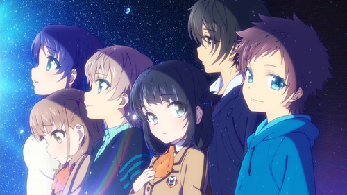 Nagi no Asukara karatasi la kupamba ukuta probably with anime entitled Nagi no Asukara <3