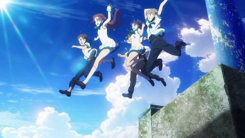 Nagi no Asukara karatasi la kupamba ukuta entitled Lull -Soshite Bokura wa-