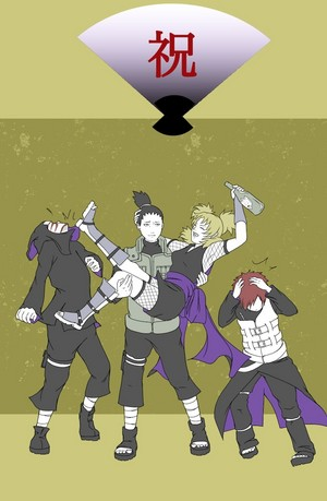 시카마루 and Temari (and Gaara and Kankuro)