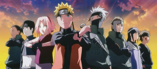 Naruto Hintergrund possibly with a konzert called Naruto Characters