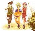 Shikamaru, Naruto and Sakura