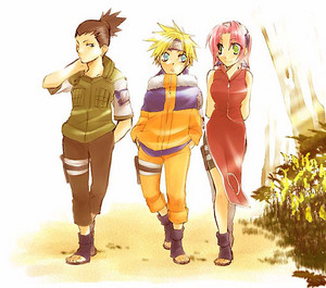 Shikamaru, नारूटो and Sakura