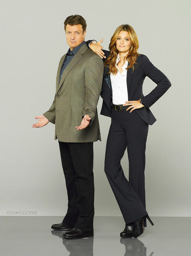 Nathan Fillion & Stana Katic fond d'écran containing a business suit, a well dressed person, and a suit entitled Stanathan-Promo pic season 6