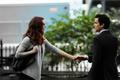 Neal Caffrey and Rebecca Lowe