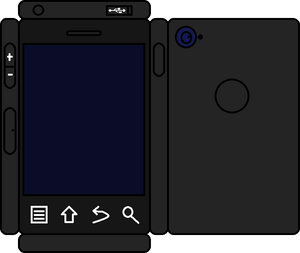 Papercraft Black Phone