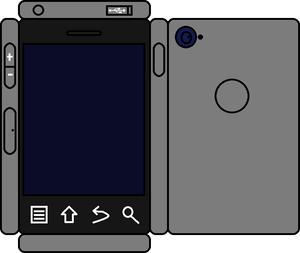 Papercraft Gray Phone