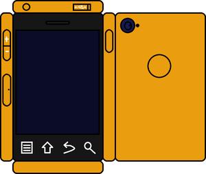 Papercraft 橙子, 橙色 Phone