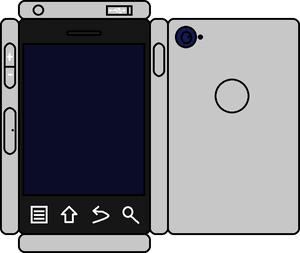 Papercraft Sliver Phone