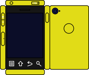 Papercraft Yellow Phone