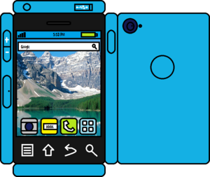Papercraft Blue Phone