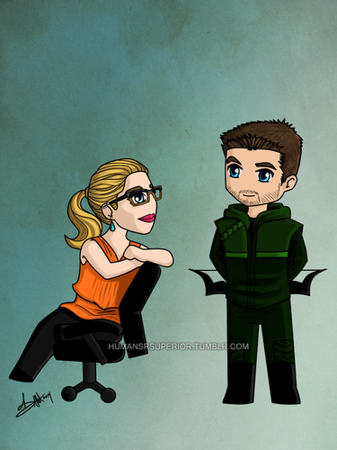 Oliver & Felicity fond d'écran possibly containing animé called Oliver and Felicity