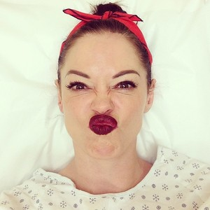 Rose McGowan's funny face