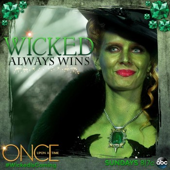 Once Upon A Time wallpaper possibly with a sign and a street entitled wicked witch of the west