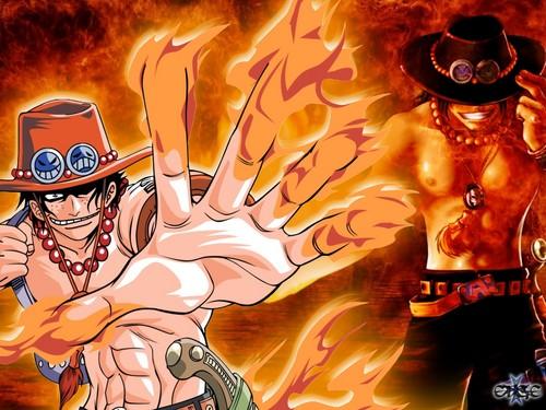 One Piece karatasi la kupamba ukuta possibly containing anime entitled One☠Piece - Ace