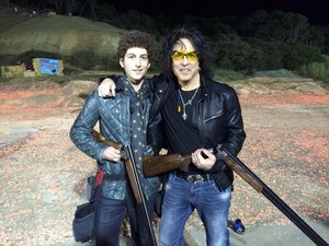 Out shooting tonight with my hot shot son Evan....January 23, 2014