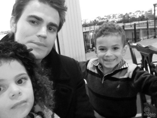 Paul Wesley wallpaper entitled Paul, Maya and Henry
