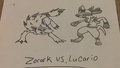 Lucario vs. Zorark - pokemon fan art