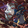 Mega Mewtwo vs Mega Lucario - pokemon photo
