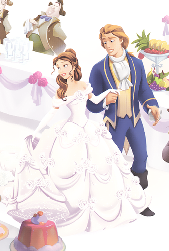 Princess Belle wallpaper possibly with a bouquet titled Belle and adam's Wedding
