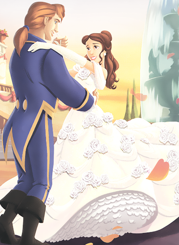 Princess Belle wallpaper entitled Belle and adam's Wedding