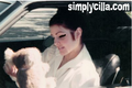Priscilla Presley recieves present from fans whilst in car
