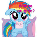 Rainbow dash is the CUTEST! - rainbow-dash fan art