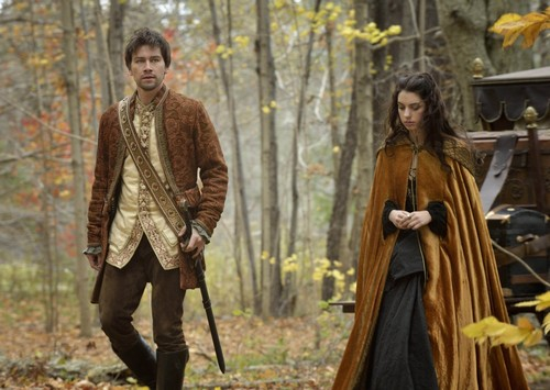 Reign [TV Show] fondo de pantalla probably containing a sobreveste, sobretodo, cota de called Sebastian and Mary