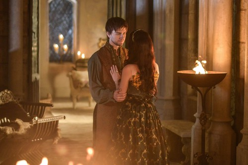 Reign [TV Show] wolpeyper with a candle entitled Sebastian and Mary