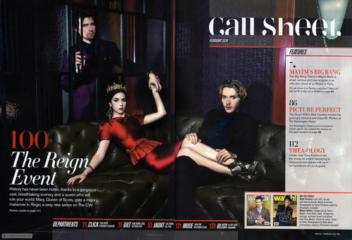 """Reign [TV Show] wallpaper containing Anime titled Magazine Scan """"The Reign Event"""""""
