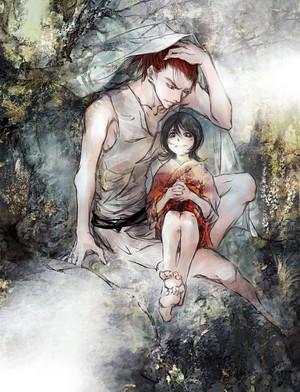 Renji Abarai and Rukia Kuchiki