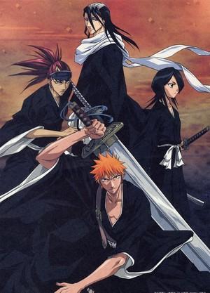 Renji Abarai, Byakuya, Rukia and Ichigo