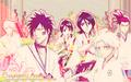 Renji Abarai, Hisagi, Rukia, Momo, Toushirou and Kira