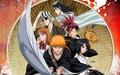 Renji Abarai, Orihime, Rukia, Kisuke, Ichigo and Byakuya