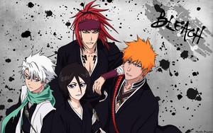 Renji, Ichigo, Rukia and Toushirou