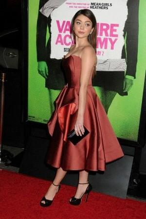 Sarah Hyland at Vampire Academy premiere