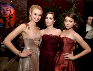 Sarah, Zoey, Lucy at Vampire Academy premiere afterparty