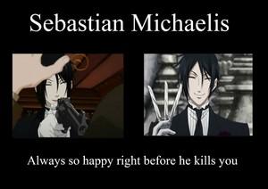 Sebastian always so happy