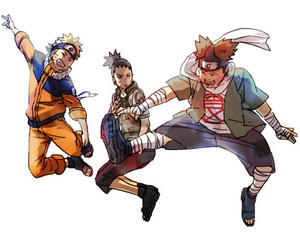 Sikamaru, Naruto and Choji