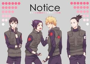 Shikamaru, Sai, Sasuke and 나루토