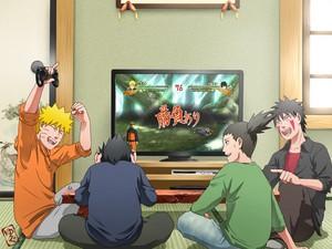 Shikamaru, Naruto, Sasuke and Kiba