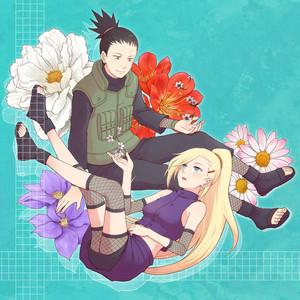 鹿丸 and Ino