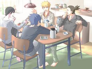 Shikamaru, Naruto, Sasuke and Sai
