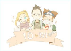 Shikamaru, Ino and Choji