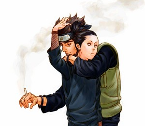 奈良シカマル Nara and Asuma Sarutobi