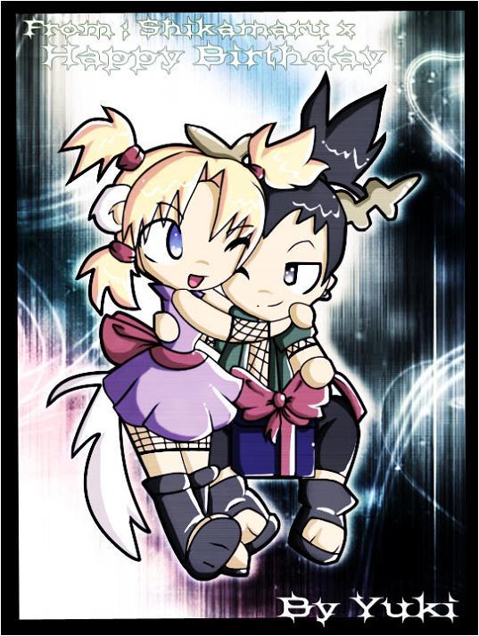 Chibi Shikamaru And Temari